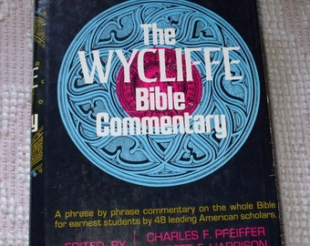 The Wycliffe Bible Commentary Hardcover with Dustjacket Bible Study Hardcover Vintage Book