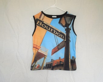 90s Bourbon Street New Orleans Picture Tank Top