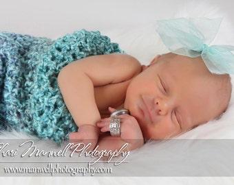 Robin Egg Blue Newborn Baby Cocoon Wrap