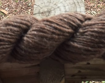 Shetland Single Ply Lopi Style Yarn-Light Brown