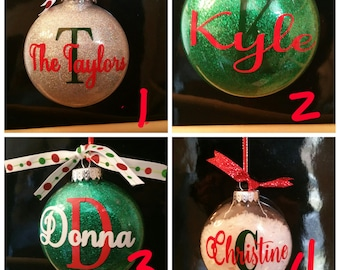 Personalized Handcrafted Ornaments