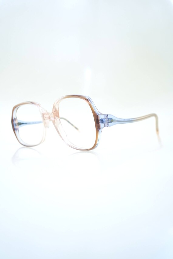 1960s Clear Eyeglasses Mod Boxy Eyeglass Frames Womens
