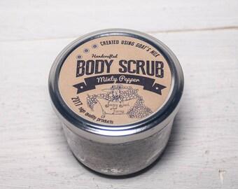 Salt scrubs,dead sea salt, exfoliating, body scrub spa, body scrub, body polish,emulsified body scrub, goats milk, mint, black pepper