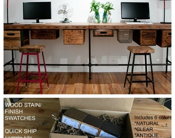 Attractive Reclaimed Wood Desk, Home Office, Office Furniture. Choose Size, Thickness,  Finish