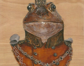 """The Frog Prince, 8x10"""" archival art print"""