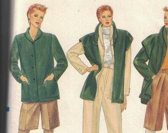 Vogue 8403 Vintage Pattern Womens Jacket, Vest, Shorts and Pants Size 14 UNCUT