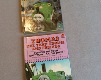 2 vintage Thomas The Tank Engine ladybird books: Percy and Harold, Percy takes the plunge , pop goes the diesel, dirty work & close shave