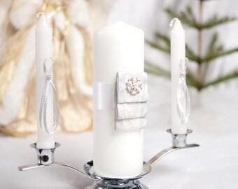 Winter Woodland Wedding Unity Candle Set - 350106