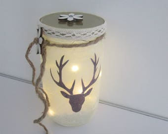 Deer trophy LED tealight Lantern