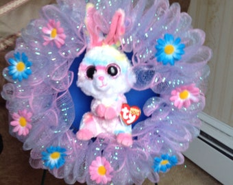 SALE 1 of a kind! Ty Bunny Lollipop Wreath now 20