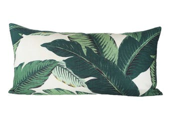 READY TO SHIP - 14x28 Banana Palm Linen pillow cover (sized for 15x30 insert)