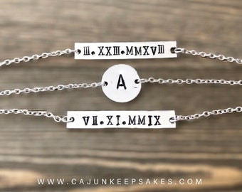 Stackable Bracelets | Custom | Personalized Handstamped Jewelry
