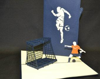 3-D Soccer Pop-Up Card