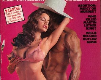 Hustler Vol 5 N 5 November 1978 Good condition Mature