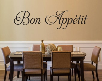 Bon Appetit Wall Decal - Kitchen Decor - Dining Room Decal