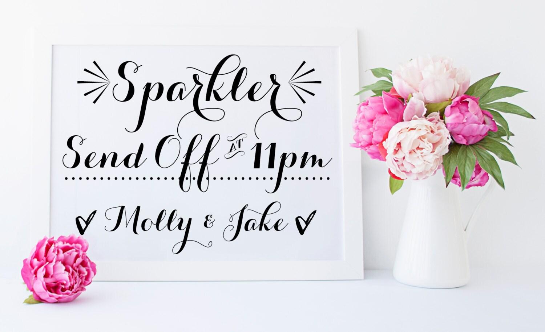 Printable sparkler send off sign sparkler send off sparkler zoom kristyandbryce Images