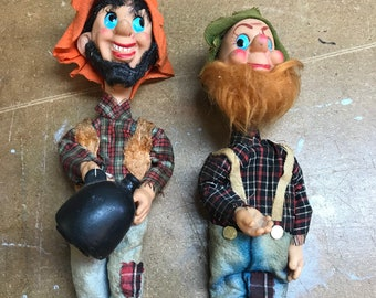 Vintage Souvenir Hillbilly Dolls