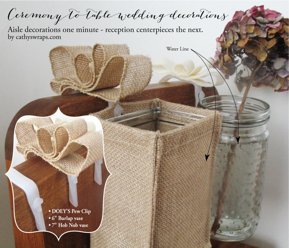 Wedding Ideas For Church Pews: Wedding Ceremony Pew Decorations Doey's Church Pew Clip