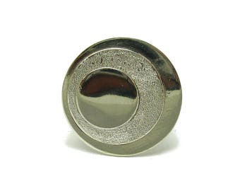 Sterling silver ring solid 925 Laser finished circle pendant