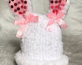 Preemie Easter Bunny Hat with removable bunny ears