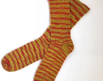 Handmade Wool Socks 453 -- Men's Size 11-13
