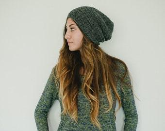women's slouchy hat, women's slouch hat, men's slouchy hat women's beanie gray hat wool hat winter hat