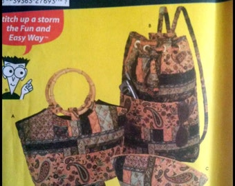 Simplicity 5076  Quilted Bags  UNCUT