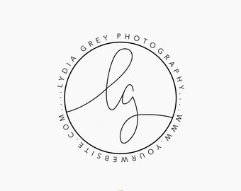 Premade Logo - Script Initial Submark Logo - Watermark - Photography Logo - Interior Designer - Blogger - Branding - Logo Design  - Initials