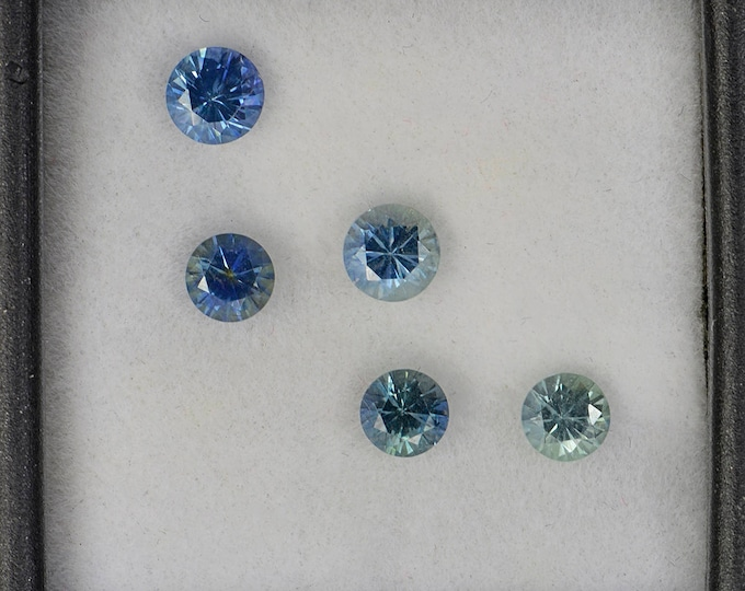 Excellent Blue Green Sapphire Gemstone Set from Montana 1.96 tcw.