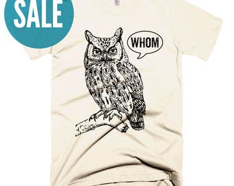 CLEARANCE Grammar Shirts for Women Christmas Gifts for Teachers Unique Teacher Gifts for Her Funny Grammar Shirt Who Whom Owl Grammatical T
