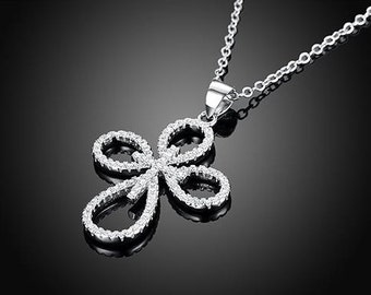 Sparkly Cross Pendant Necklace