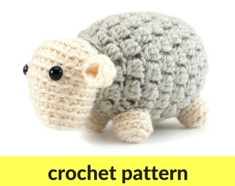 Sheep amigurumi crochet pattern - cute sheep pattern, crochet pattern, farm animal pattern, amigurumi pattern, baby crochet pattern, nursery