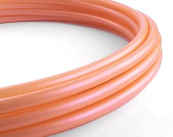 Iridescent Peach 3/4 Polypro Hula Hoop// Customizable// Light Weight//Trick Hoop//Dance Hoop