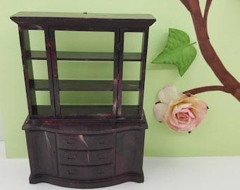 Marx Marxie Mansion  China Hutch Dining roo  Fits 3/4 Scale  Renwal hard  Plastic