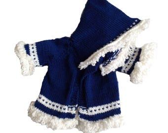 Pull Cardigan à capuche en laine infantile - capuchon pour bébé 6 mois