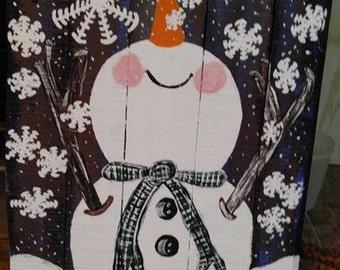 Large Porch Snowman