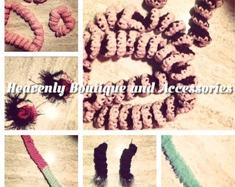 Custom made crocheted accessories