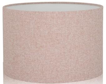 Drum lampshade etsy shetland blush pink brushed linen style cylinder drum lampshades pendant shade table aloadofball Choice Image