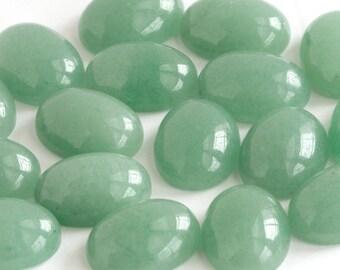 Green Aventurine Cabochons | ONE 12mm x 16mm Green Oval Aventurine Cabochon
