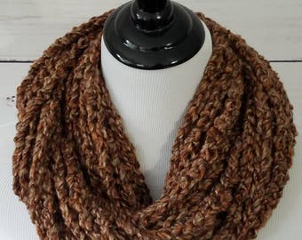 Crocheted Chain Infinity Strand Scarf - Braided Infinity Scarf