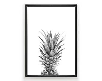 Pineapple Print, Printable Tropical Fruit, Pineapple Art, Pineapple Photo, Tropical Art, Tropical Print, Pineapple Wall Art Decor, Printable