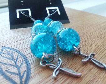 Ocean blue collection dangle drop earrings