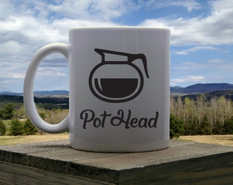 Pot Head- Sublimated Coffee Mug