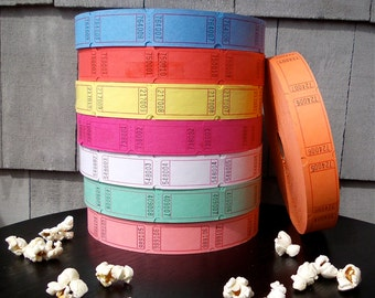 Carnival Raffle Tickets Numbered - Choose your color - Perfect for door prizes, giveaways, weddings, mixed media, scrapbooking, stamping
