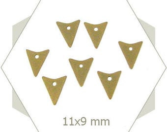 15 triangles BB204 bronze arrow charms