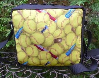 Softball shoulder bag, hipster bag, cross body bag, The Otter