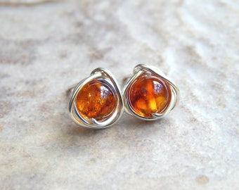 Blue Green Amber Sterling Silver Square Contemporary Amazing Stud Earrings (Colour changes depending on lighting) 2LzZ0miF