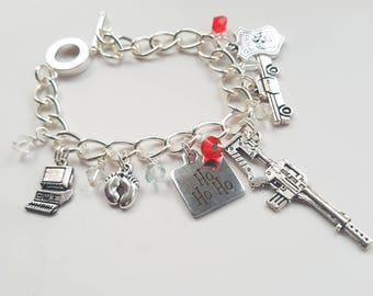 Yipee ki-yay! Charm bracelet inspired by Die Hard