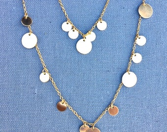 Many Moons Gold Disc Necklace | Gold Filled Discs on a Gold Filled Chain
