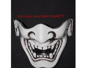 Half cover Hannya Kabuki mask, Airsoft mask, Halloween costume & Cosplay mask, Halloween mask, Steampunk mask, Wall mask, Samurai MA131 et